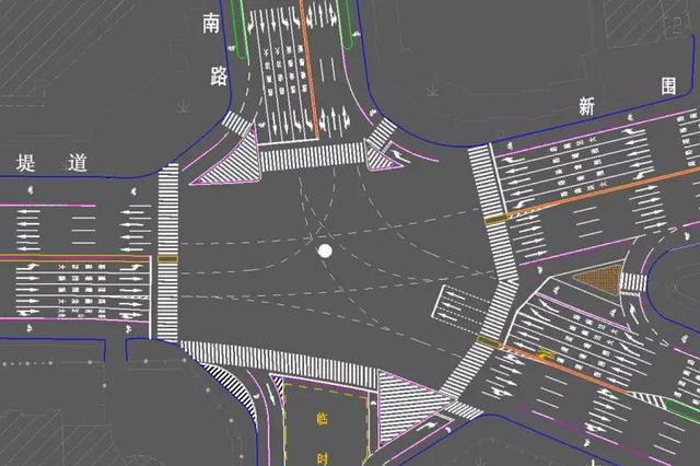 南楼五岔路口将调整为变形十字路口今后这样行车