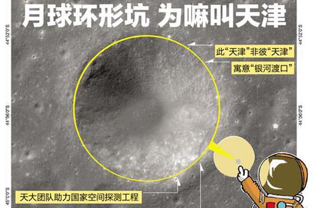 """月球环形坑为嘛叫天津 天津力量助力""""嫦娥""""登月"""