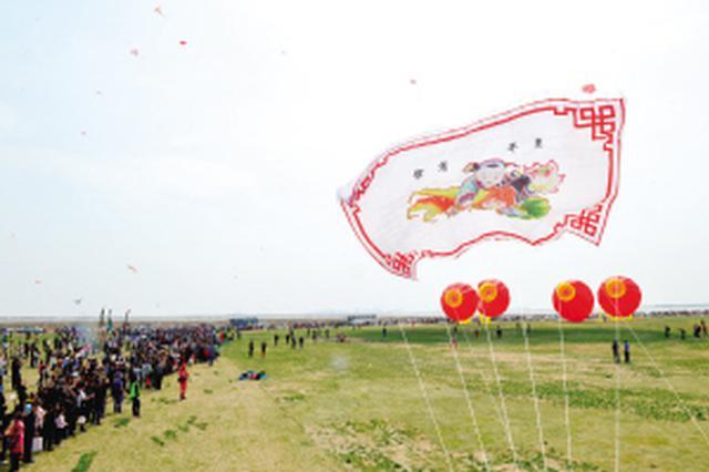 天津大哥放飞世界最大风筝 花费60万元历时一年完成