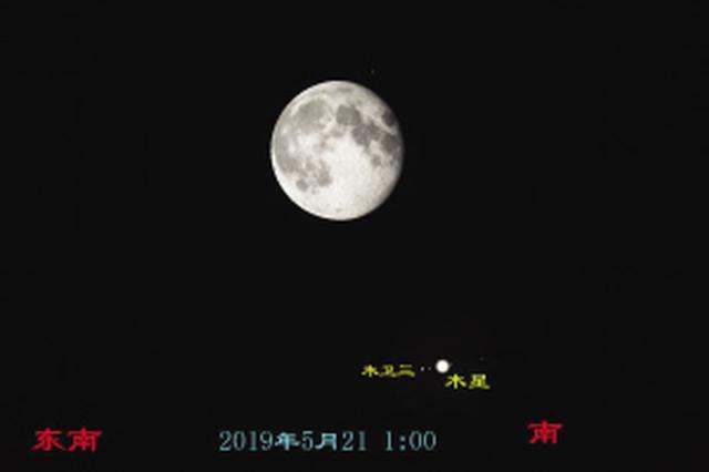 """21日""""小满"""" 木星土星先后与月亮有约"""