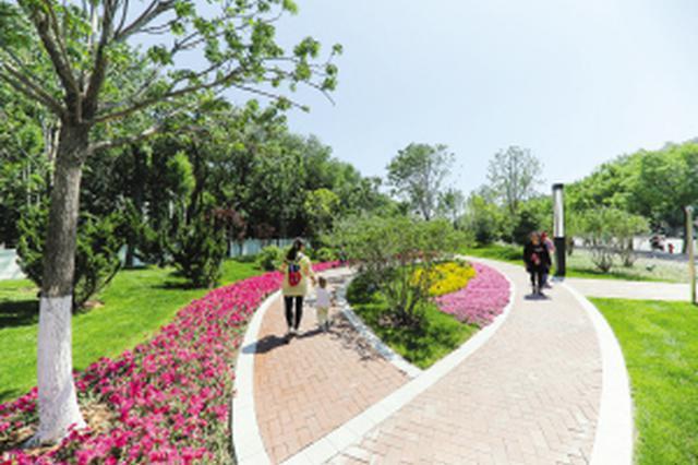"""天津一""""海绵公园""""对外开放"""