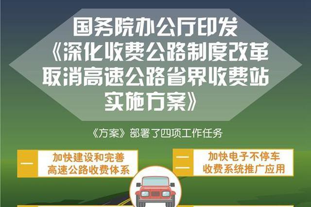 国办:力争年底前基本取消高速省界收费站