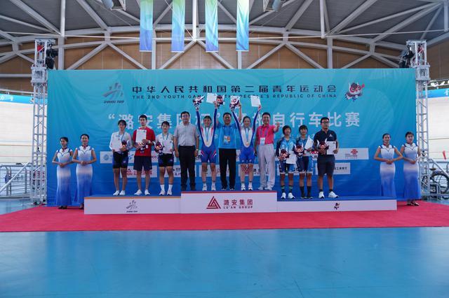 二青会场地自行车赛再〓传捷报 天津女队麦迪逊赛夺冠