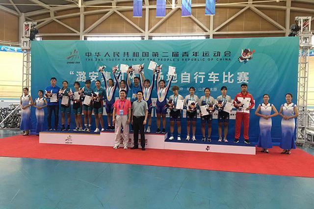 天津市自剑中心自行车队在二青会赛场创造佳绩