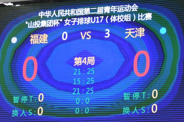 二青会女排体校甲组天津队3-0胜福建取小组两连胜