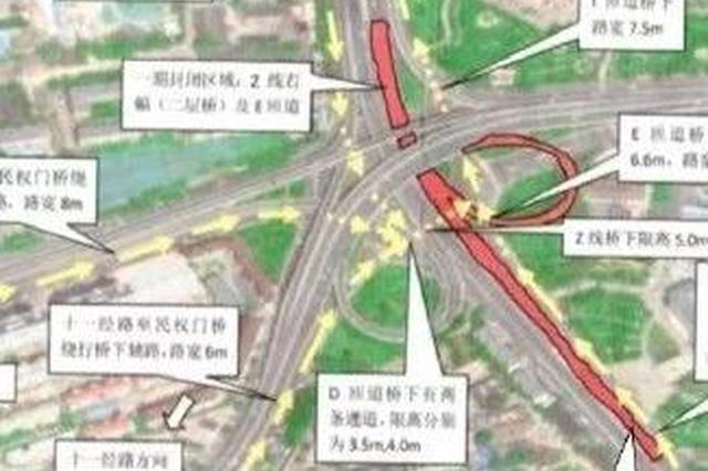 顺驰桥部分路段大修施工 出行合理规划