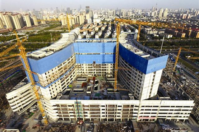 国内单体最大公立医院天津第一中心医院封顶