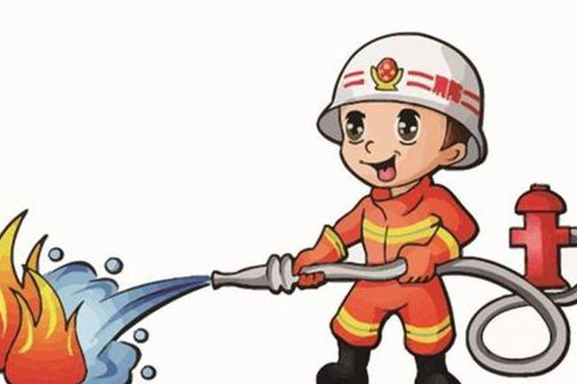 天津市蓟州消防宣传进商场