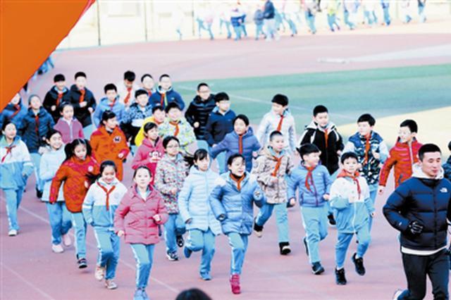 我跑步我健康 天津启动青少年学生冬季长跑活动