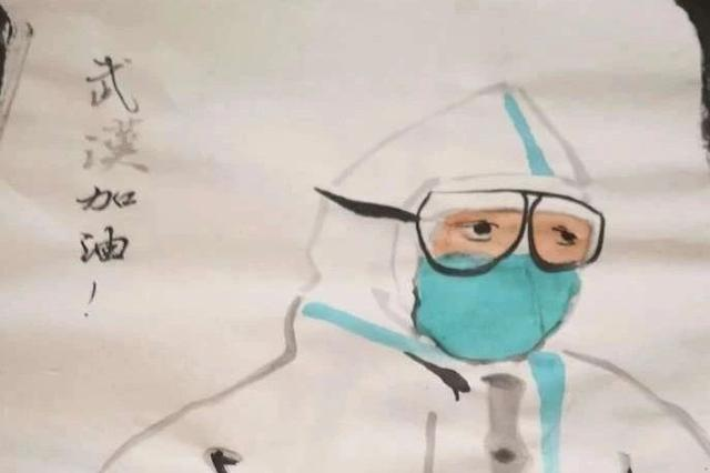 这是天津一个12岁小朋友的画 他的妈妈在武汉……