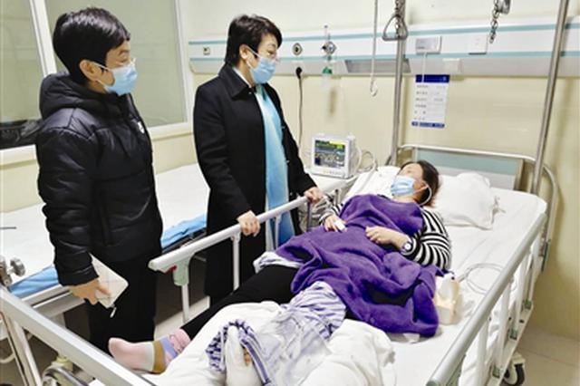 """蓟州区隔离酒店保洁员志愿做""""首消"""" 不慎跌下楼梯脚踝骨折"""