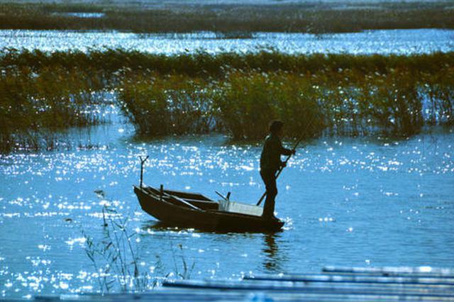 天津北大港水库蓄水水面面积增至149平方公里