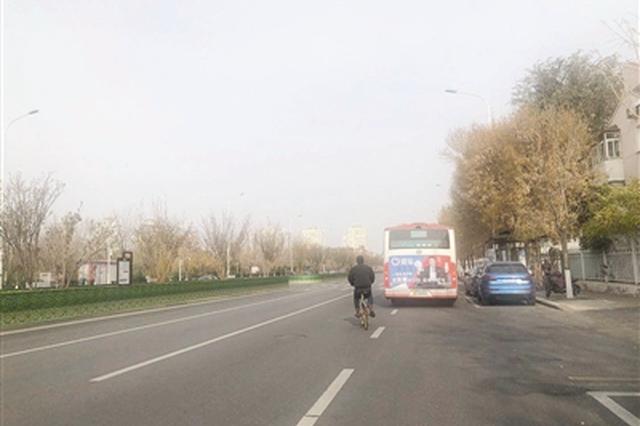 """公交车""""副站""""扎堆非机动车道被""""征用"""" 公交车占道自行车绕"""