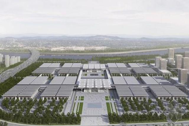 国家会展中心轮候区加紧施工 预计5月底竣工投用