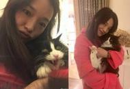 舒淇抱爱猫心情好