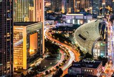 天津蜿蜒的城市溪流