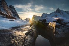 遥望美好冰岛风光