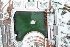 水上公园雪后奇观