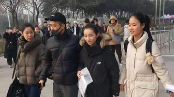 张子枫参加河南省艺术类统考