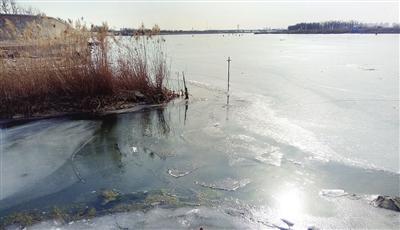 西减河汇入海河处未结冰