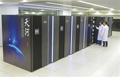 """2019年1月18日,""""天河三号""""超算原型机研制成功并完成部署。王涛摄"""