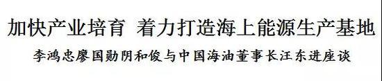 李鸿忠:加快产业培育,着力打造海上能源生产基地