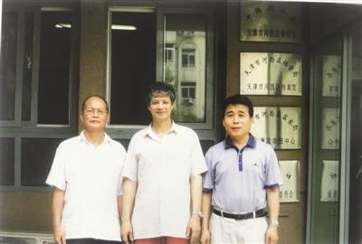 2013年张绍组、理查德·傅莱(小)和韩宝安(河西档案馆提供)