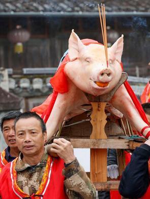 景宁非遗抢猪节
