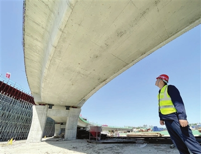 外环线东北部调线与津蓟快速路 立交工程年内主体完工
