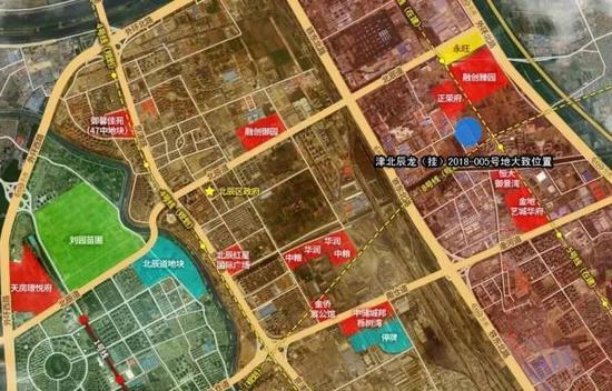 津北辰龙(挂)2018-005号大致位置