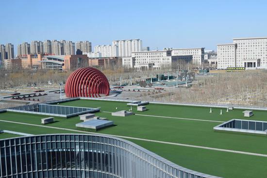 武清博物馆观光厅向外远眺的景观