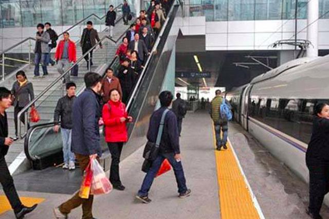 天津站日均客流约10万人次