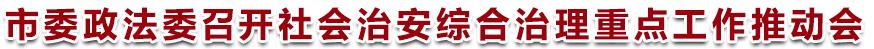 市委政法委召开社会治安综合治理重点工作推动会
