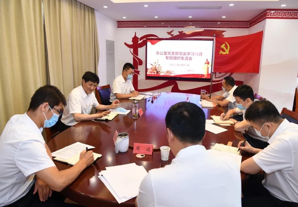 赵飞同志以普通党员身份参加党支部党史学习教育专题组织生活会
