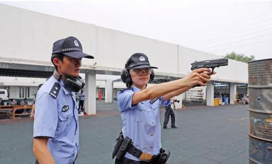 公安河北分局组织民警开展警务实战射击训练活动