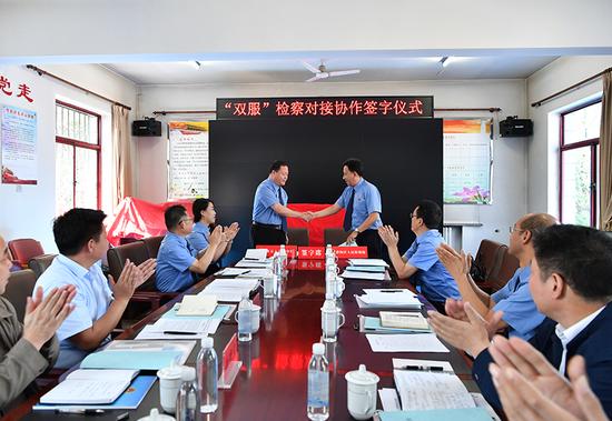 静海区检察院与河北省雄县检察院签订《服务京津冀协同发展、服务雄安新区规划建设协作框架协议》