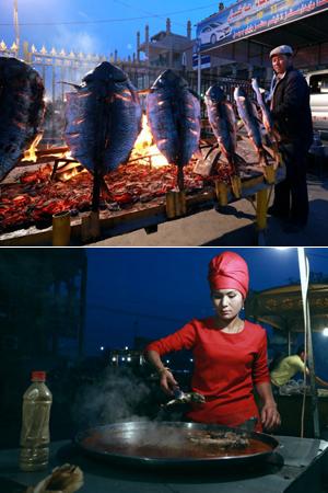 喀什巴楚夜市的美食诱惑