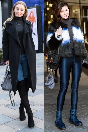 街拍:颜好腿长的时尚潮女