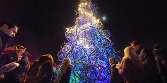 单车圣诞树你见过吗