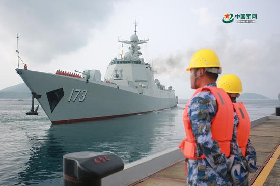 中国052D与054A舰赴印尼 将与美俄等24国共同军演孙子涵好听的歌