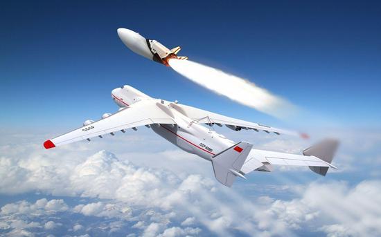 安-225空中发射maks航天飞机