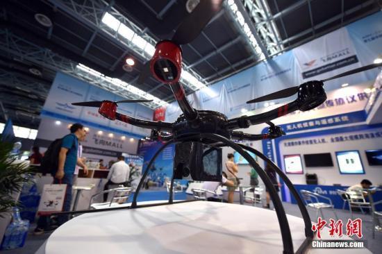 资料图:6旋翼无人机。中新网记者 金硕 摄