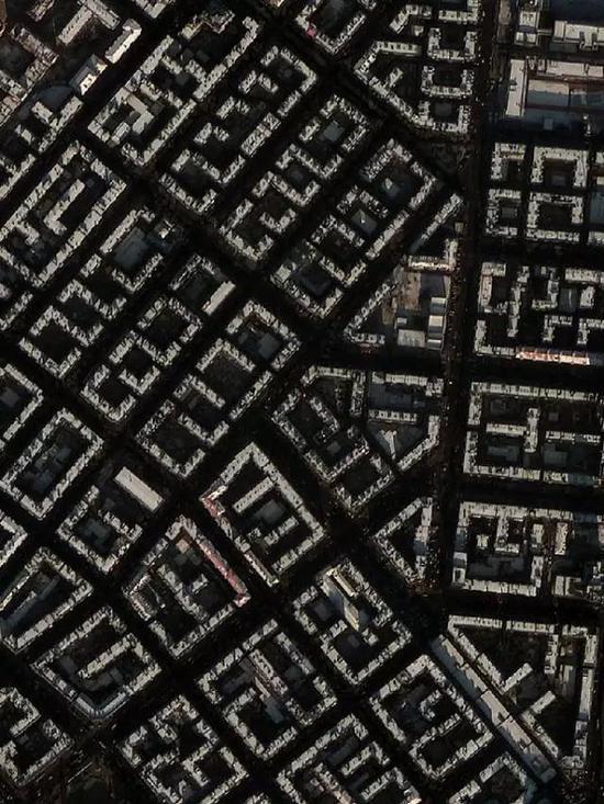 迷宫一样的城市街区建筑
