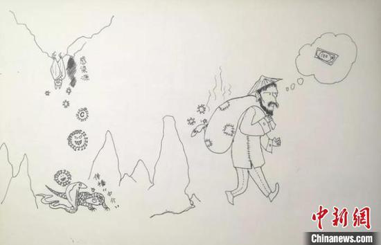 陈度赫的画。 受访者供图