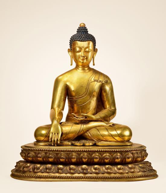 十四世纪释迦牟尼,高77cm