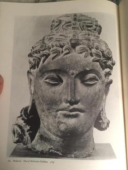 犍陀罗文物收藏图录的面部特写
