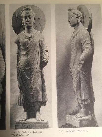 犍陀罗文物收藏图录中可以看出雕像的比例