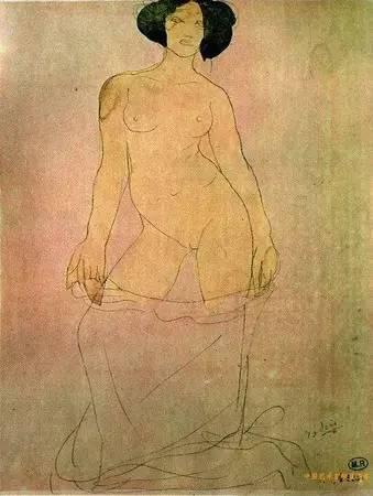 罗丹的裸体素描2