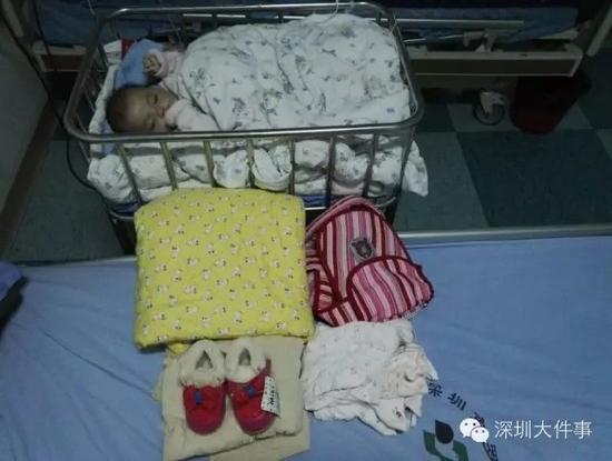 5个月可爱宝宝 被妈妈遗弃深圳罗湖茶店