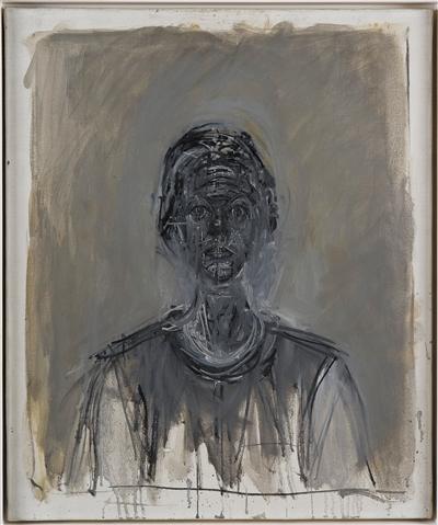 《黑色的安妮特》,1962年,布面油画,55×45.8cm
